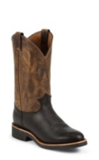 """Image for 12"""" BLACK PITSTOP ROUND TOE PULLON boot; Style# 29329"""