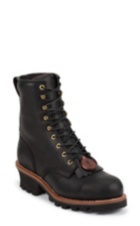 Image for BALDOR BLACK STEEL TOE LOGGER 8 boot; Style# 73020