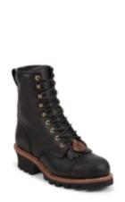 Image for BALDOR BLACK STEEL TOE LOGGER 8 boot; Style# 73020