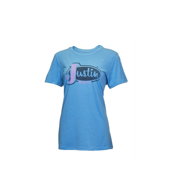 Image for JUSTIN LADIES FADE OUT-TURQUOISE ; Style# 1TEE103