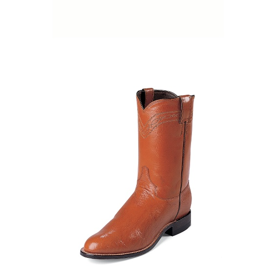 Image for COGNAC SMOOTH OSTRICH boot; Style# 3021