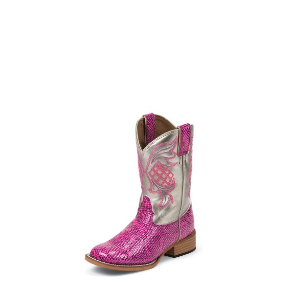 Image for PINK SNAKE PRINT boot; Style# 382JR