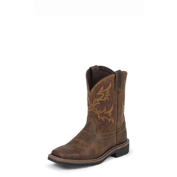 Justin Boots 4681jr Cattleman Tan