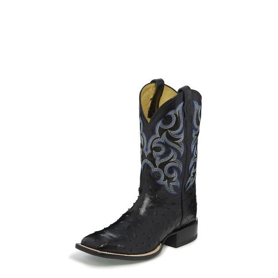 Justin Boots 8514 Truman Black Full Quill