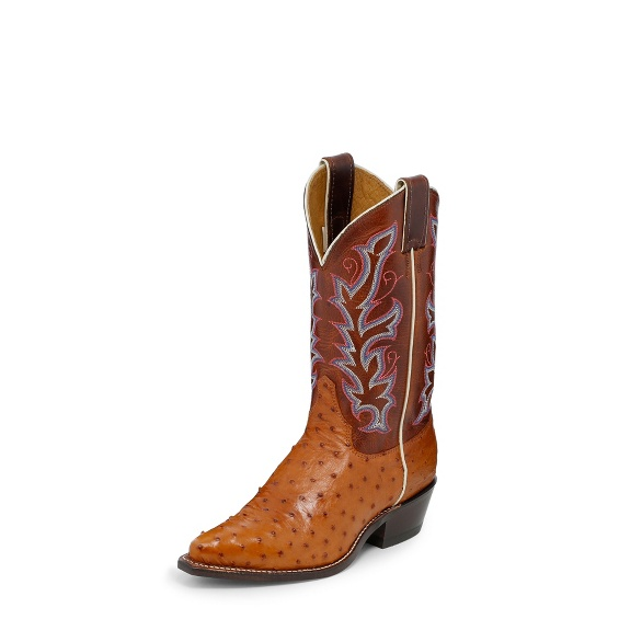 Image for COGNAC FULL QUILL OSTRICH boot; Style# J3229