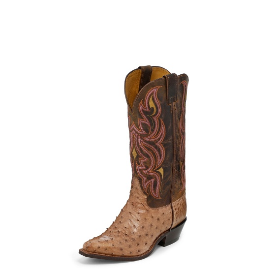 Image for MINK WAXY FULL QUILL OSTRICH boot; Style# J3252