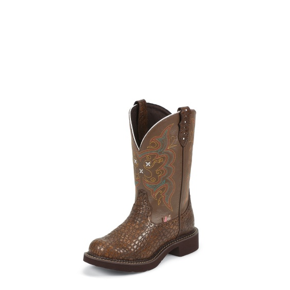 Image for BROWN PEARL PRINT COWHIDE boot; Style# L9994