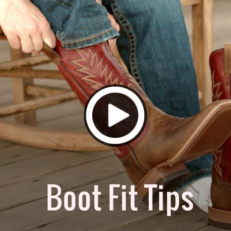 Justin Ranch. Boot fit tips