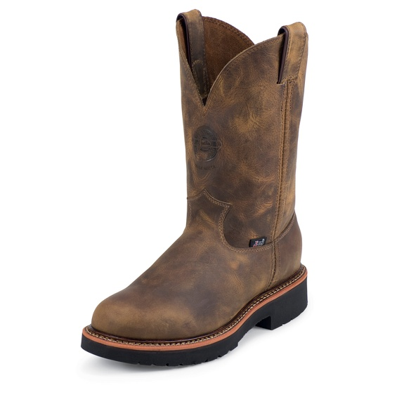 Justin Original Workboots 4440 Blueprint Pullon Tan Gaucho 11