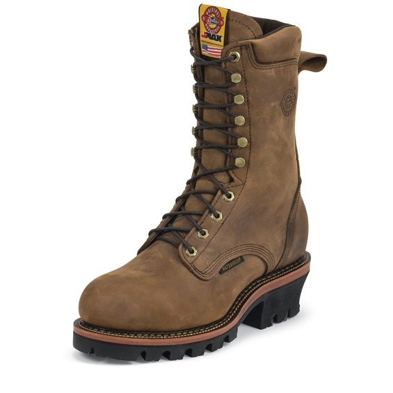 Mens Justin Original Work Boots Men's Jmax Logger Steel TE Steel Toed Work Shoe On Sale Online Size 44