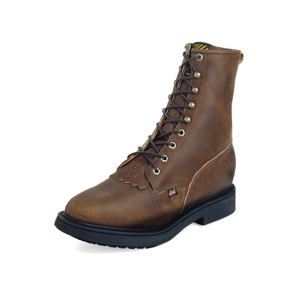 Image for CONDUCTOR BROWN STEEL TOE 8 boot; Style# 764
