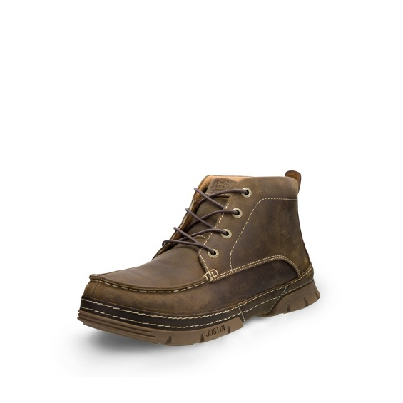 Image for TOBAR BROWN 4 EYE STEEL TOE shoe; Style# WK277