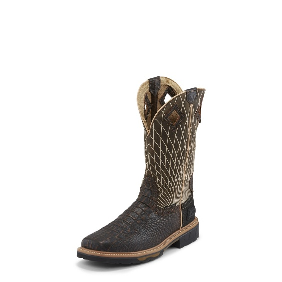 Image for DERRICKMAN CROC PRINT COMP TOE boot; Style# WK4833