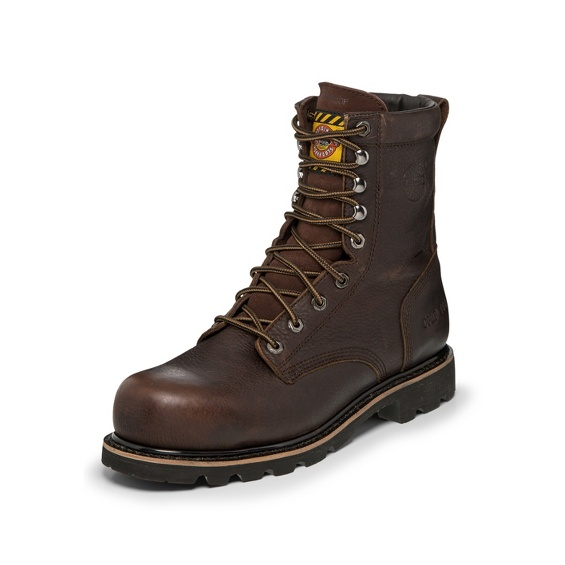 Justin Original Workboots Wk711 Miner Bark Brown Comp Toe