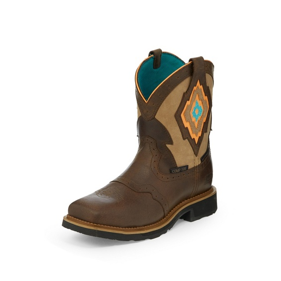 Image for LALA BROWN SUGAR WATERPROOF COMP TOE boot; Style# WKL9979
