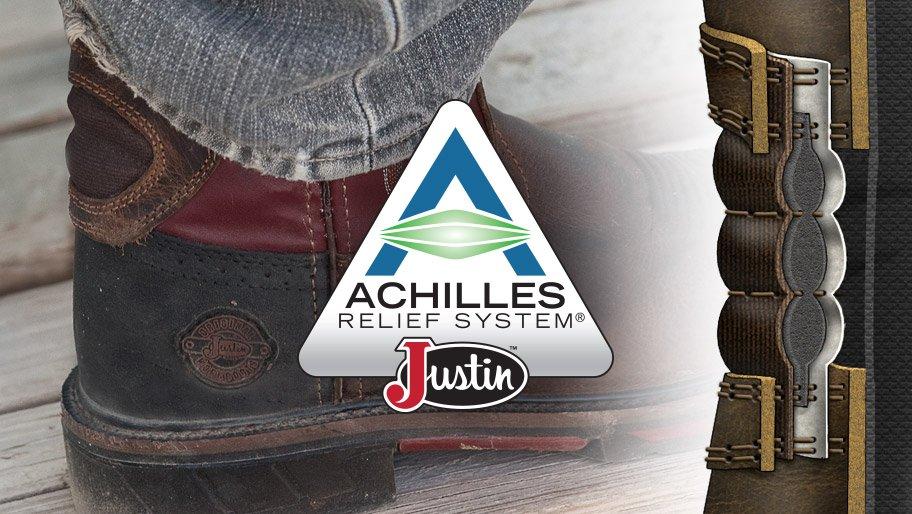 Justin Original Workboots Achilles Relief System 174 Boots