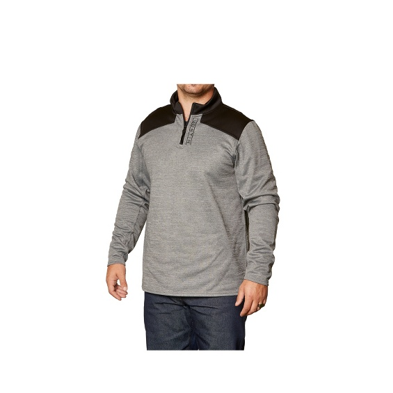 Image for JUSTIN Q-ZIP PULLOVER-HEATHER GREY ; Style# 1APP203