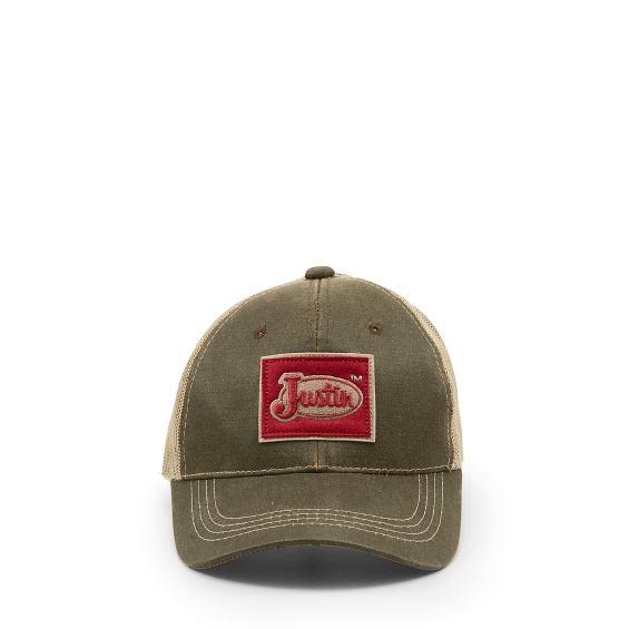 Image for JUSTIN CAP-BROWN W/MESH BACK ; Style# JCBC005BR