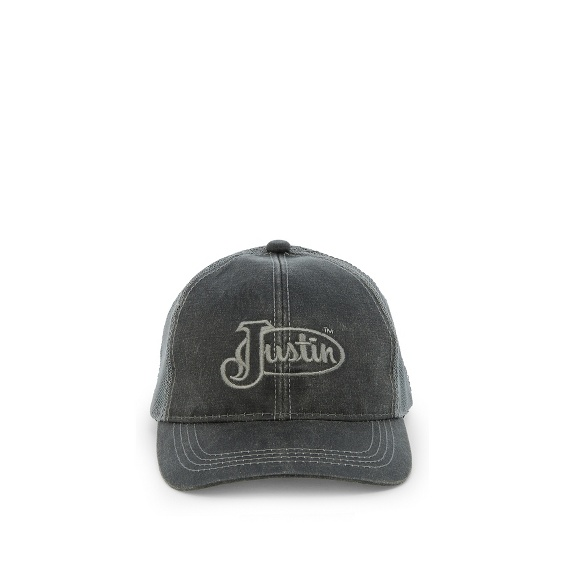 Image for JUSTIN CAP-BLACK W/MESH BACK ; Style# JCBC018B