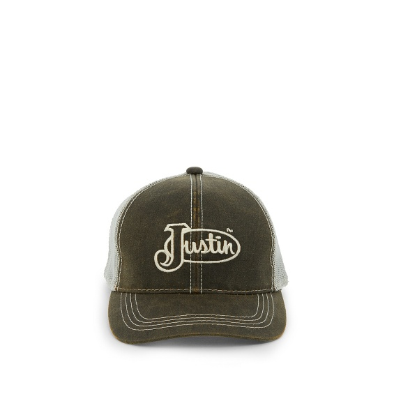 Image for JUSTIN CAP-DARK BROWN W/MESH BACK ; Style# JCBC018DB