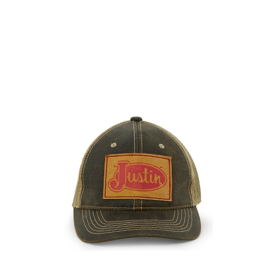 Image for JUSTIN CAP-BROWN W/MESH BACK ; Style# JCBC022BR