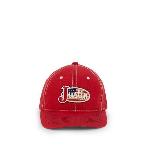 Image for JUSTIN CAP-RED ; Style# JCBC401R