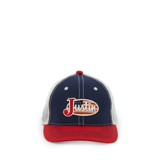 Image for JUSTIN CAP-NAVY W/RED BRIM ; Style# JCBC402N