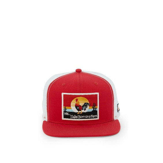 Image for JUSTIN CAP-RED W/ROOSTER PATCH ; Style# JCBC507R