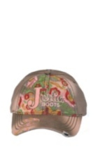 Image for JUSTIN LADIES FLORAL EMBROIDERED-TAN ; Style# JSL136B