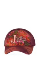 Image for JUSTIN LADIES FLORAL EMBROIDERED-DK RED ; Style# JSL136C