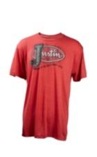 Image for JUSTIN MENS VINTAGE J LOGO-RED ; Style# P73185R