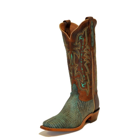 Image for TURQUOISE TRI-TONE LIZARD boot; Style# H2321L