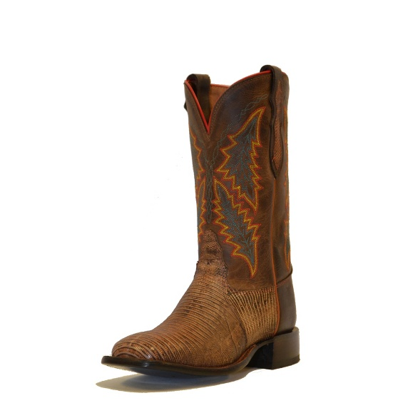 Image for ANTIQUE TAN TRI-TONE LIZARD boot; Style# H2323L