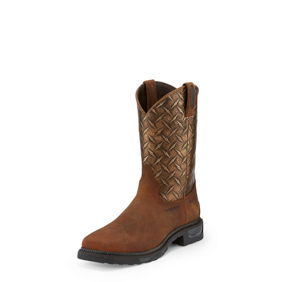 Image for DIBOLL RUST DIAMOND PLATE W/P COMP TOE boot; Style# TW4024