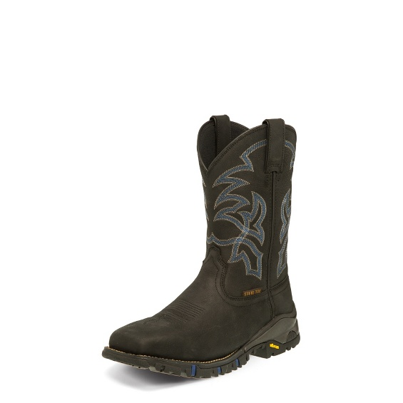 Image for ROUSTABOUT BLACK STEEL TOE boot; Style# TW5002