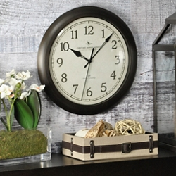 "Slim 11"" Wall Clock with Whisper Technology, 86433"