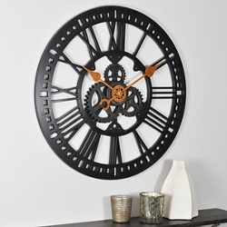 "Roman Gear 24"" Wall Clock, 86450"