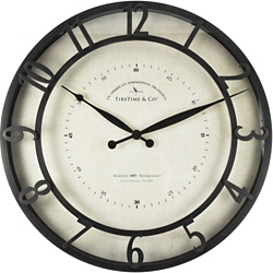 "Raised Numeral 18"" Wall Clock with Whisper Technology, 86436"