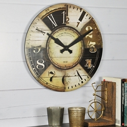 """Vintage Collage Dial 15.5"""" Wall Clock, 86441"""