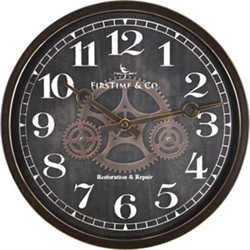 "Industrial Gear 12"" Wall Clock, 86443"