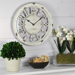 """Antique 10"""" Contour Clock, 86437"""