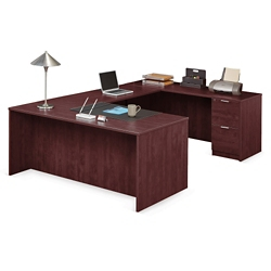 "Solutions U-Desk with Right Bridge - 71""W, 10064"