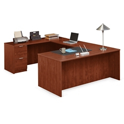"Solutions U-Desk with Left Bridge - 71""W, 10065"