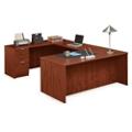 "Solutions U-Desk with Left Bridge - 71""W, 10065"
