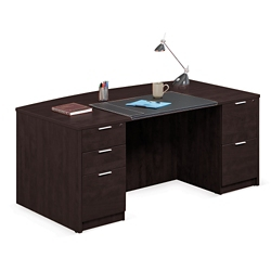 "Solutions Bowfront Executive Desk - 71""W, 10066"