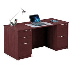 "Solutions Double Pedestal Desk - 66""W, 10067"