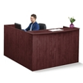 "Solutions Reception L-Desk with Right Return and Full Pedestal - 71""W, 10069"