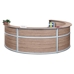 "Compass Four Person Reception Desk - 142""W x 106""D, 10142"