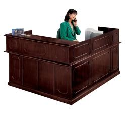Traditional Reception L-Desk with Left Return, 10516