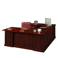Traditional U-Desk with Left Bridge, 10579
